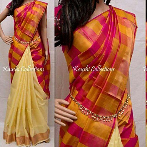 d060cdad0d78d janaki traders Women s Silk Uppada Pattu Saree with Blouse Piece (123
