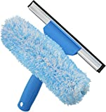 Unger Professional Microfiber Window Combi: 2-in-1 Professional Squeegee and Window Scrubber, 6''