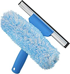 Unger Professional Microfiber Window Combi: 2-in-1 Professional Squeegee and Window Scrubber, 6\