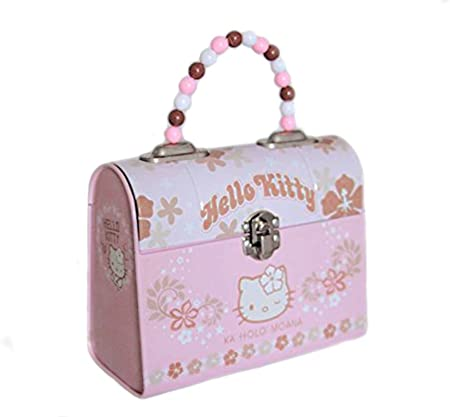 Caja de metal pequeña, diseño de Hello Kitty-Caja para llevar la merienda, para niña, color rosa claro-Longueur-Hauteur 13 cm, 16 cm: Amazon.es: Hogar