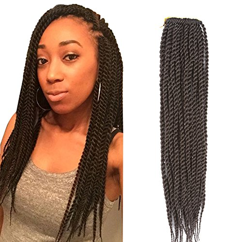 Befunny 8Packs 14'' Senegalese Twist Crochet Hair Short Braids Small Havana Mambo Twist Crochet Braiding Hair Senegalese Twists Hairstyles For Black Women 20strands/pack(14'', 4#) by Befunny