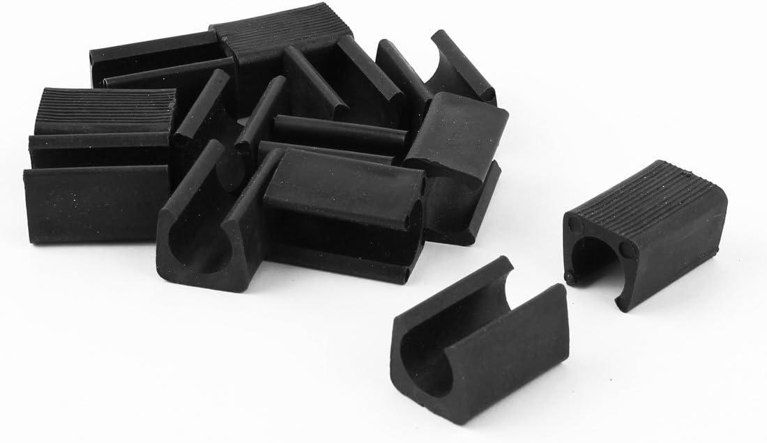 12Stk Möbel Füße Rechteck geformt Antirutsch Stuhl Beine Spitze schwarz