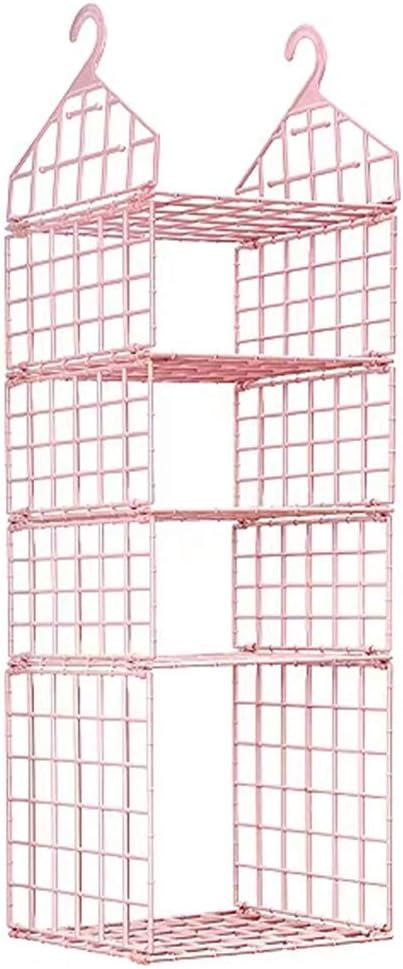 Pullover Keine verformung 4 Schichten Kleiderschrank Veranstalter Rosa Pyjamas und H/üte Handt/ücher JSF H/ängeaufbewahrung Schrank Kleiderschrank Organizer Regal f/ür Kleidung
