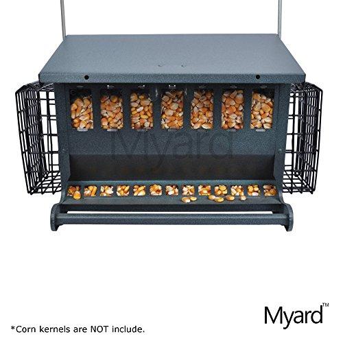 myard-metal-hopper-double-sided-bird-feeder-2-suet-cake-feeders-mbf-7452
