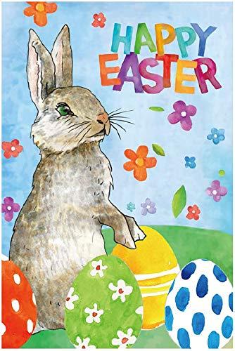 GiftWrap Etc. Cute Easter Bunny Garden Flag - 12