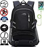 Backpack Bookbag for School Student College Travel Business with USB Charging Port 15.6