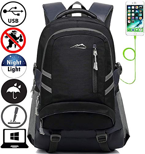 5d85d6edc87f8 Backpack Bookbag for School Student College Travel Business with USB  Charging Port 15.6 inch Laptop Compartment
