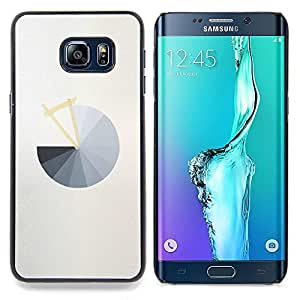 - Pie Chart Grey Abstract Minimalist Grey - - Snap-On Rugged Hard Cover Case Funny HouseFOR Samsung Galaxy S6 Edge Plus