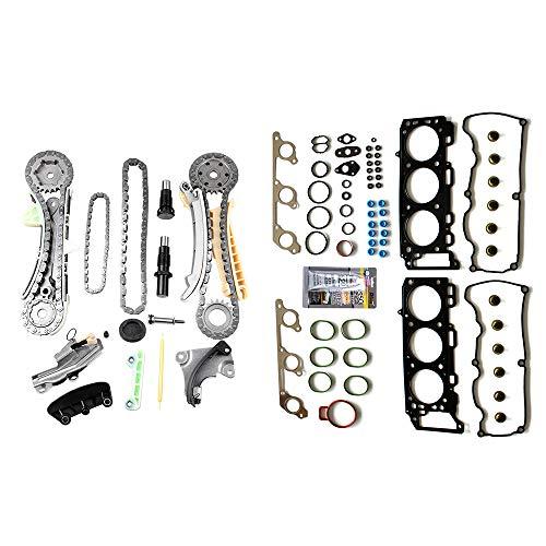 OCPTY Timing Chain Kit for 00/01/ 02/03 Ford Explorer Ford Explorer Sport Trac Ford Ranger Mazda B4000 Mercury Mountaineer 4.0L Gaskets Kit Head Gasket Set