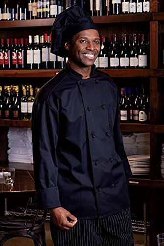 Uncommon Threads Unisex Classic Knot with Mesh Chef Coat, Black, X-Small by Uncommon Threads