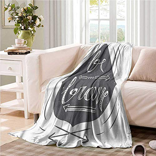 (Oncegod Knee Blanket Quote Be Brave Slogan Arrows Recliner Throw,Couch Throw, Couch wrap 60