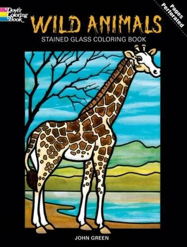 DOVER PUBLICATIONS Stained Glass Color Book Wild Animals (269825)