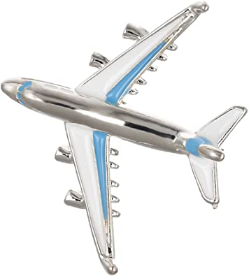Baoblaze Broche Avion Forme Brochette Manteau Cristal Strass