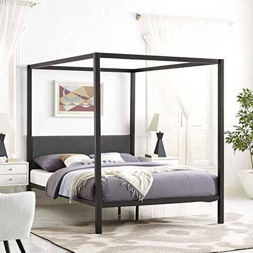 queen canopy bed frame - 7
