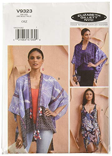 (Vogue Patterns V9323OSZ Sportswear Misses' Coverup, One Size Only Only, Green)