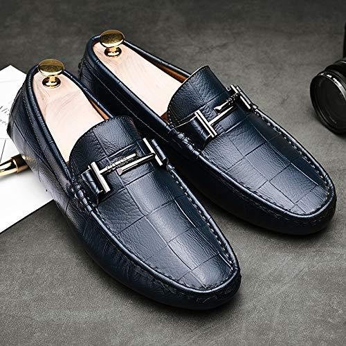 AIMENGA Herren Freizeitschuhe Erbsen Schuhe Herrenschuhe Handgefertigt Lässig Wind Pedal Faule Schuhe