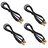 Mumaxun 4pcs 3ft/39inch Rg174 Antenna Extension Cable RP-SMA Male to Female Connector Adapter for Wireless LAN WAN Network Card Router Bridge Antenna