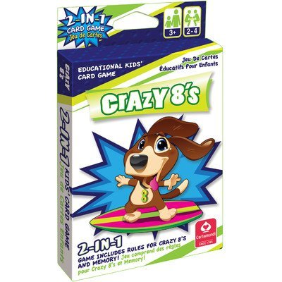 Kelli's Shop Cartamundi 4650 2 in 1 Card Game Crazy 8's & Memory, Multi Color