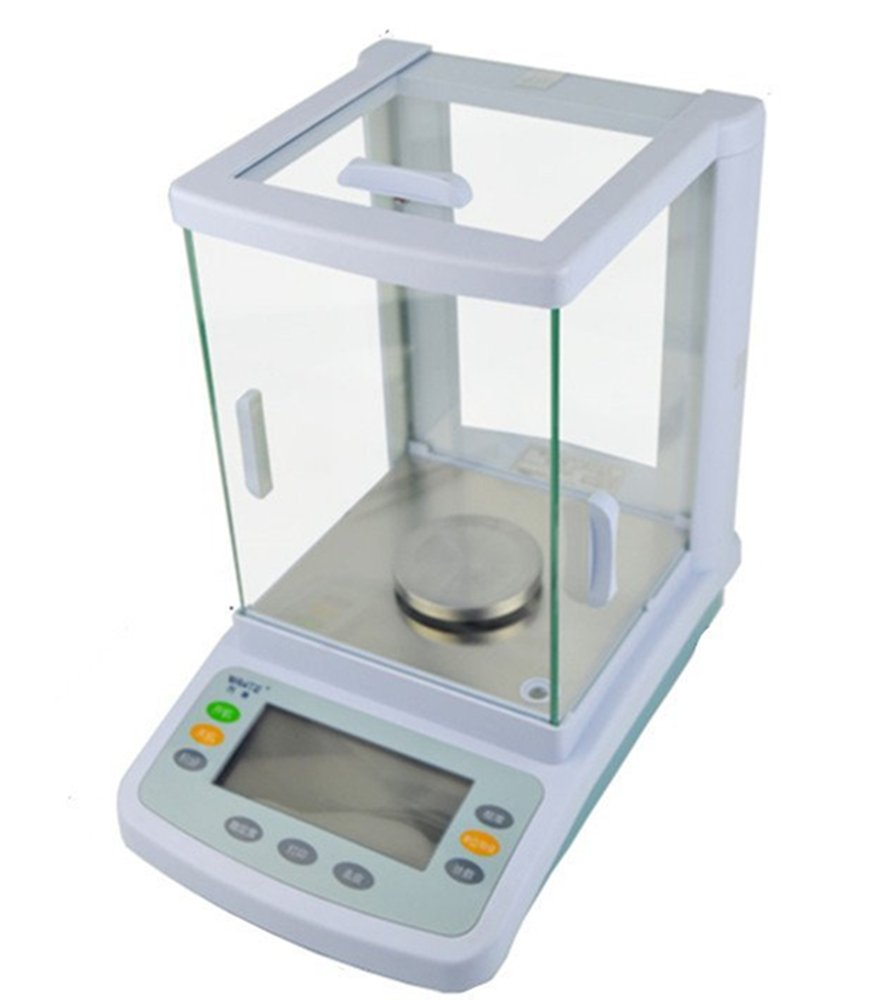 CGOLDENWALL Digital Analysis high Precision Laboratory Analytical Balance Jewelry Scale  High Wind Shield Electronic BalanceQuartile Scientific Research Balance 0.0001g (100g, 0.0001g)