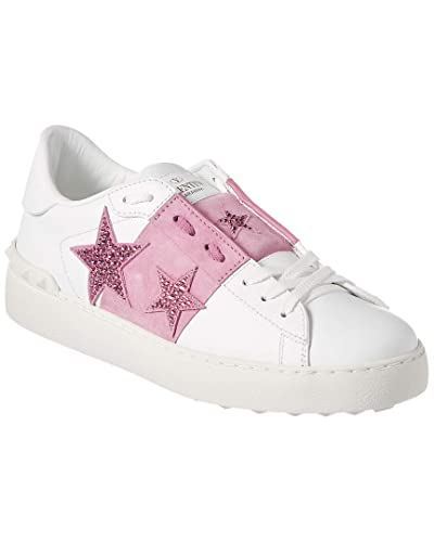 Amazon Com Valentino Open Star Suede Leather Sneaker 39 Pink