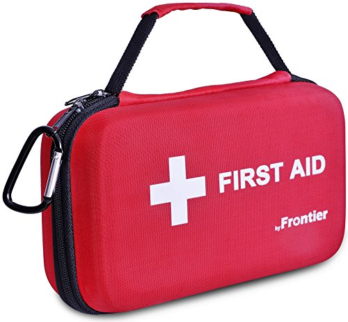 First Aid Kit - 205 Pieces - Hard Case with essential Emergency supplies for survival situations - Multi Purpose Ideal for Family, Home, Work, Travel, Car, Camping, Hiking, Sports, Fishing, Outdoors.