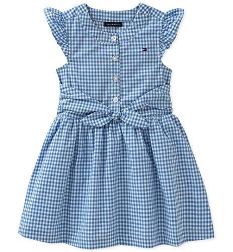 Tommy Hilfiger Little Girls' Dress, Blue, 6X from Tommy Hilfiger