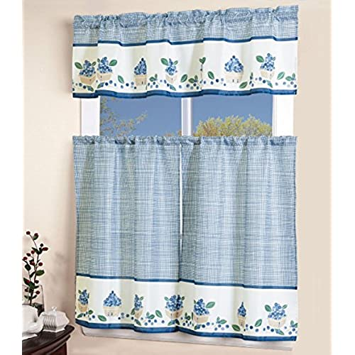 Blue And Yellow Kitchen Curtains