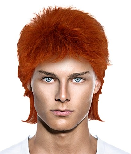 70s Rocker Style Hair Wigs w/Wig Cap Cosplay Costume Party Halloween Hairpiece -