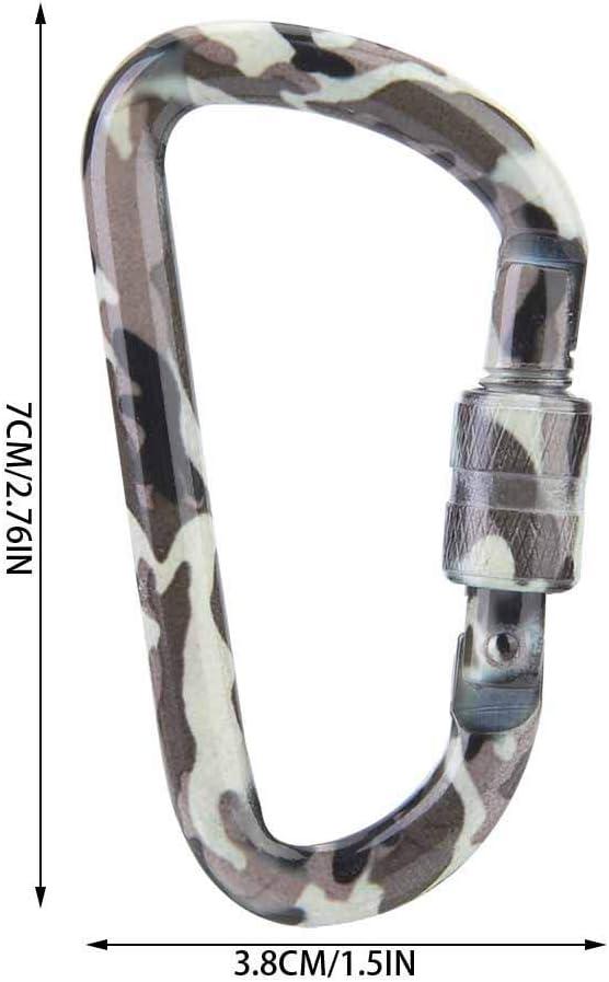 Boucle de Camouflage en Plein air pour Alpinisme Naroote Mousqueton