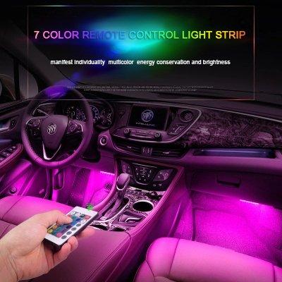 Led Light Strips For Car Interior Mesmerizing Amazon Car LED Strip Light Oneka RGB MultiColor 60 LED Car