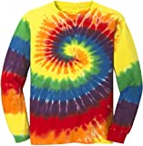 Koloa Surf Co.(tm) Colorful Long Sleeve Tie-Dye T-Shirt,M-Rainbow