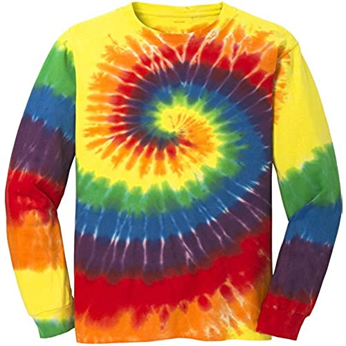 Tm Colorful Long Sleeve Tie Dye T Shirt2XL Rainbow