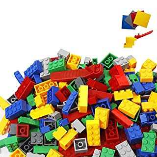 Limei International Classic Building Bricks STEM Construction Blocks Toy Game Science Engineering Maths Educational Fancy Shapes Colors Fit All Major Brands Ideal for Kids (4 Baseplates for Free)