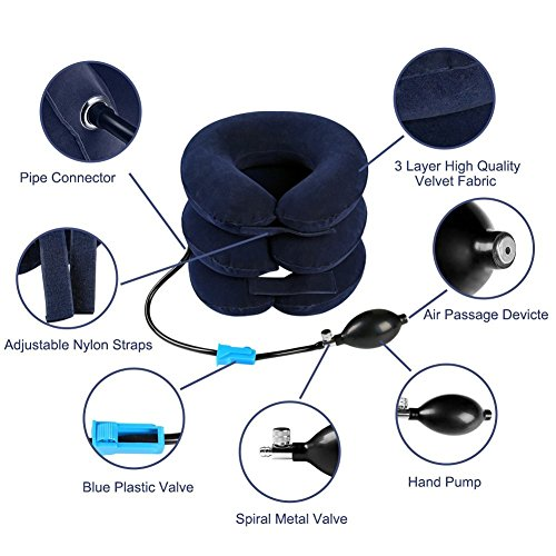 DaNA-Cervical-Neck-Traction-Device-Pain-Relieving-Remedy-Chronic-Neck-Shoulder-Alignment-Pain-Inflatable-Neck-Stretcher-Collar-Pillow-PUMP-BONUS