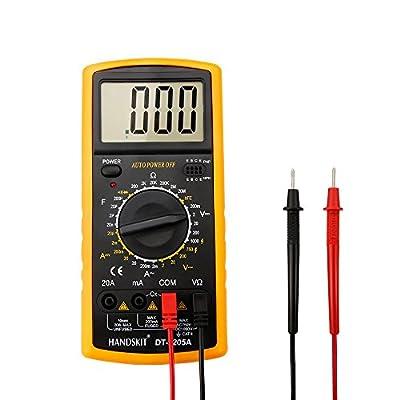 Digital Multimeter, MECO DT9205A Digital Electronic Meter Measuring Instrument AC Voltage Detector Portable Volt Test Meter