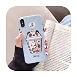 New Cartoon Milk Tea We Bare Bears Phone Case for iPhone 11 Pro X XS MAX XR 6 6s 7 8 Plus Fashion Cute IMD Cover,for iPhone 11,2