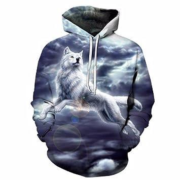 Wish La Personalidad del Hombre Lobo Hoodie Primavera y otoño, suéter Sudaderas gráfico S-4XL: Amazon.es: Deportes y aire libre