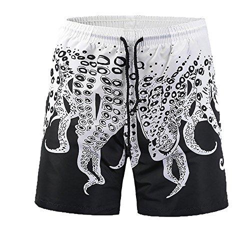 ♚ Pantalones Cortos para Hombre del Pulpo, Pantalones de la ...