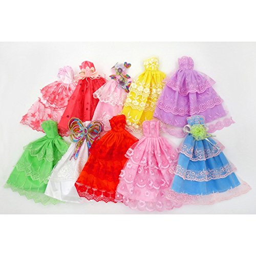 Qiyun Fashion Party Dress Princess Gown Clothes Outfit for 11in Barbie Doll Wedding Gown 6 - Mall Shopping Lake Great