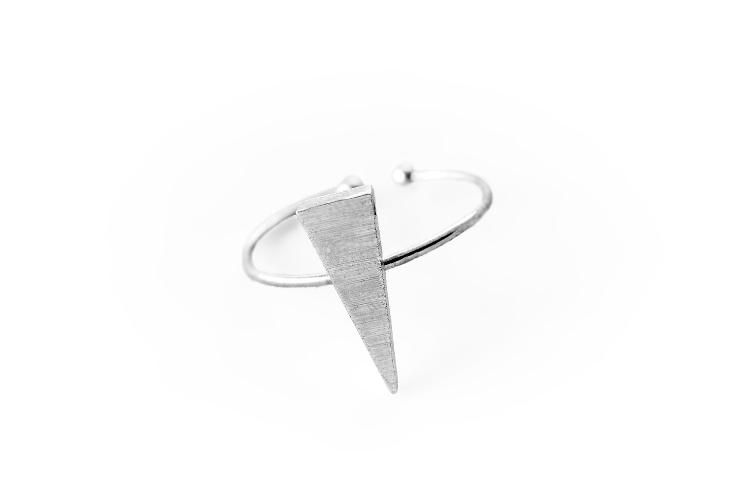 Fit Selection Triangle Ring Geometric Ring Sharp Triangle Ring Minimalist Ring Style