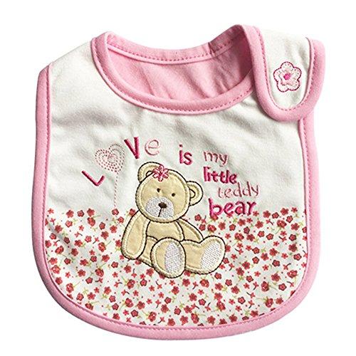 Cute Cartoon Pattern 3 Layer Toddler Baby Waterproof Saliva Towel Baby Bibs (Bear)