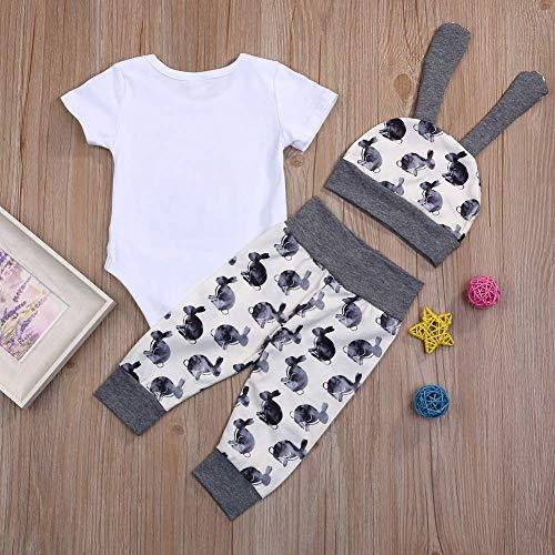 95a33f136 ... My 1st Easter Newborn Baby Boy Girl Outfits Rabbit Romper Top+Cartoon  3D Bunny Ears ...