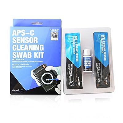 APS-C Frame (CCD/CMOS) Digital Camera Sensor Cleaning Swab Type 2 Cleaning Kit (Box of 12 X 16mm Swab + 15ml Sensor Cleaner) by UES