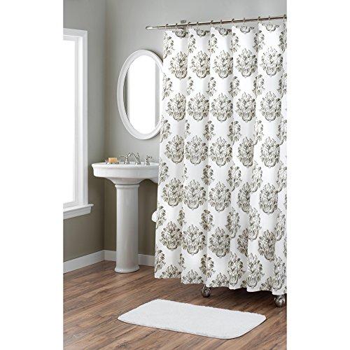 Home Dynamix Nicole Miller Tabitha 100% Cotton Fabric Shower Curtain, Standard 72