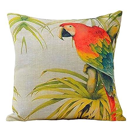 Me Brands European Rural Pillow Cushion Linen Cushion Bird And