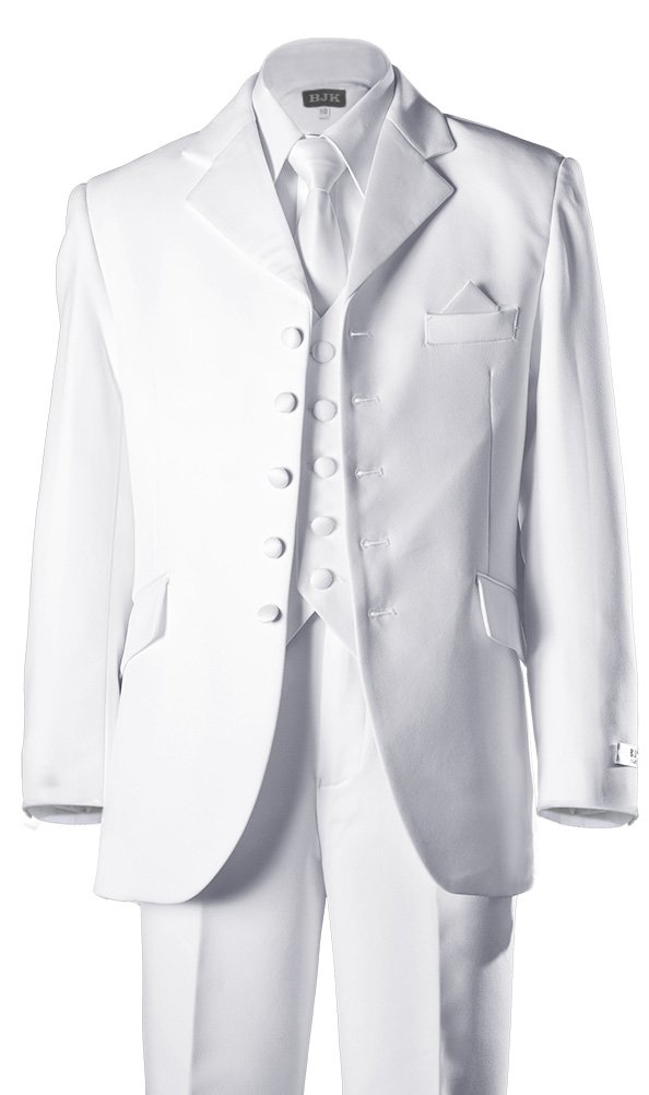 Boys 5 Button First Holy Communion Suit - White (Boys 7)