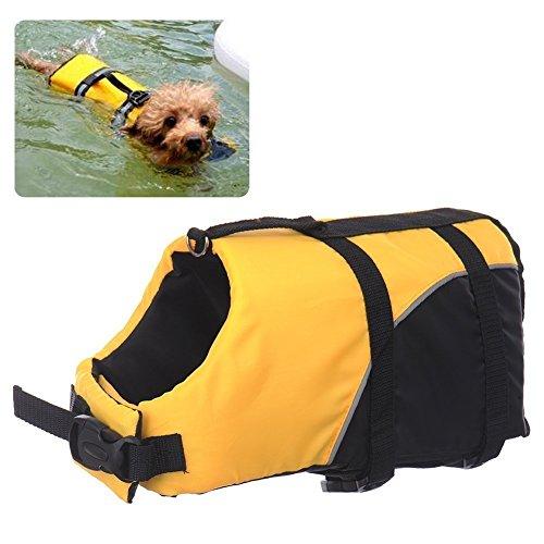REXSONN® Float Coat Hundeschwimmweste Schwimmweste Hunderettungsweste Rettungsweste Hundeweste Warnweste dog life jacket Schwimmhilfe für Hunde