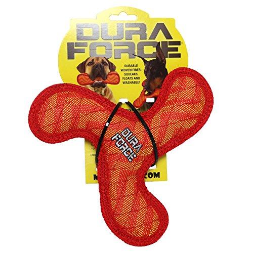 high-quality VIP Products TUDFJR-BR-ZZ-RR Tuff Jr. Boomerang Zigzag Red Pet Toys