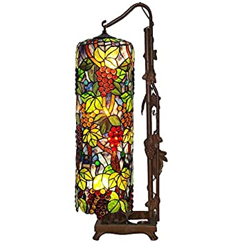 Bieye L10399 Grapes Tiffany Style Stained Glass Long