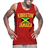 Mens Kingston Jamaica - Jamaican Tank Top T-shirt (3XL, RED)